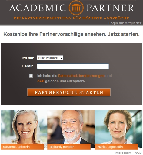 Academic partnervermittlung